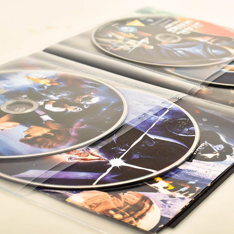 Quadruple DVD sleeves for 4 DVD discs & cover - 10 pcs.