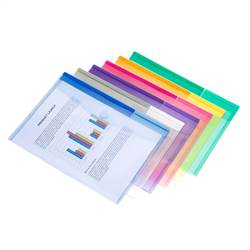 A4 folder with velcro closure, 12 folders in assorted colors