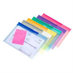 A5 size document holder with Velcro closure, 6 envelopes in assorted colors