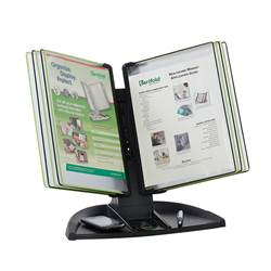Black Line Desk Set - 10 Black/Green Pockets