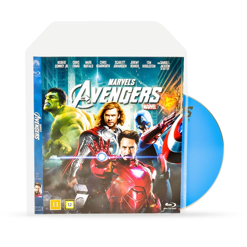 Blu-Ray Sleeves for Blu-Ray Storage - space for Cover - 50 pcs.