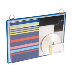 Horizontal Hanging Brochure Display, blue - 5 pcs.