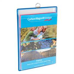 Vertical Hanging Brochure Display, blue - 5 pcs.