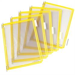 Pivoting Pocket Packs yellow 10 pcs