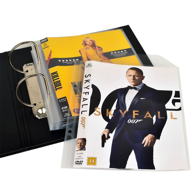 DVD binder for DVD pockets and DVD storage